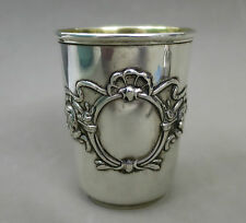 FINE ANTIQUE QUALITY SOLID SILVER VODKA SHOT CUP  56 GRAMS HALLMARKED