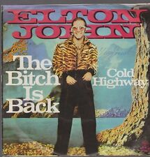 "7"" Elton John The Bitch Is Black / Cold Highway 70`s Pop Chart Hit"