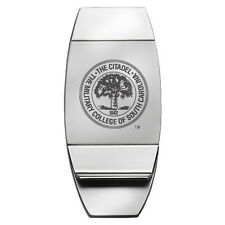The Citadel - Two-Toned Money Clip - Silver