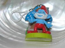 Swappz The SMURFS Papa Smurf & Mushroom House Plastic Key Chain - 3 x 2.25 inch