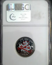 2000 Canada Day Colored Pride Coin NGC Certified MS-67
