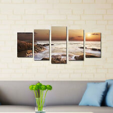 Painting Picture Canvas Art Print Wall Art Home Decorations Landscape Sea Brown