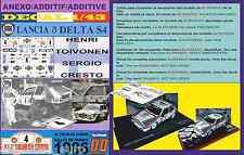 ANEXO DECAL 1/43 LANCIA DELTA S4 HENRI TOIVONEN TOUR DE CORSE 1986 (01)