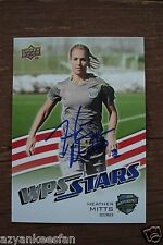 HEATHER MITTS 2010 UD WPS Soccer #196 Signed Super Draft Autograph INDEPENDENCE