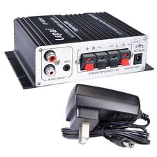 Lepai LP-2020A+ Tripath 2Ch Mini Audio Amplifier 3.5mm input jack & Power Supply
