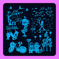 NEW Stamping Manicure Image Nail Art Image Stamp Template Tool Plate Polish T-46