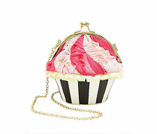 Betsey Johnson KITSCH CUPCAKES FOR EVERYONE CROSSBODY BJ59950H MULTI STRIPE