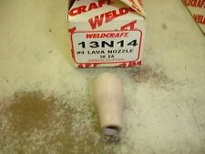 Linde 13N14  #4  Lava Nozzle $9  Tig Torch Weldcraft WP20 WP9   1/4""