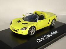 Schuco 1/43 Opel Speedster gelb in Plexi-Box #7097
