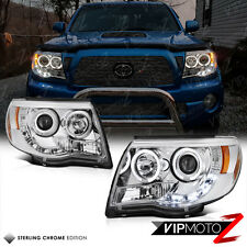 Euro Angel Eye Halo Chrome Projector Headlight 2005-2011 Toyota Tacoma Truck