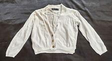 Damenstrickjacke,Zara,Gr. S,weiß,Mischgewebe: 50% Baumwolle,50% Viskose
