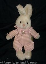 "10"" VINTAGE RUSS BERRIE CO BUMPKINS BABY BUNNY RABBIT STUFFED ANIMAL PLUSH TOY"
