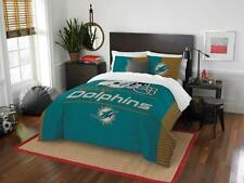 Miami Dolphins - 3 Pc FULL / QUEEN SIZE Printed Comforter / Sham Set