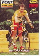 CYCLISME carte  cycliste ROLF JARMANN équipe POST SWISS TEAM