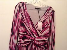 "BNWT "" Coast "" Size 8 Denise Jersey Day / Evening Dress (36 EU) 4 US Magenta New"