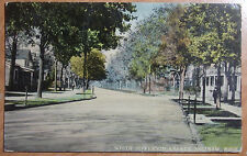 1912 POSTCARD OF SOUTH JEFFERSON AVENUE SAGINAW MICHIGAN SENT TO WARSAW INDIANA