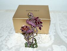"NIB $240 HEIDI DAUS ""Shore Thing"" Flamingo Party Pin SWAROVSKI Crystals"