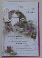 70TH MUM -  Greeting  Card  -  Birthday Card  -  AGE Relations
