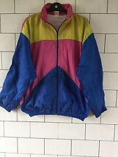 BRIGHT OLD SCHOOL VINTAGE RETRO 80'S CRAZY BOLD SHELLSUIT WINDBREAKER JACKET #85