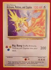 RARE Articuno, Moltres, and Zapdos GIANT Promo MINT TGC English Pokemon Card