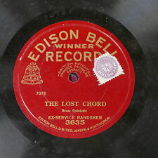 78rpm EX-SERVICE BANDSMEN the lost chord / alas those chimes , edison 3635
