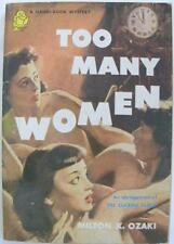TOO MANY WOMEN HANDI-BOOK MYSTERY 1950 ROMANCE PULP PAPERBACK NOVEL BOOK