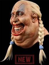NEW Zombie Beer Girl Witch DELUXE ADULT LATEX FATTY HAMSKINS MASK W/ BRAIDS