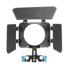 Matte Box Mattebox Sunshade for 15mm Rail Rod Support DSLR Digital Camera Canon