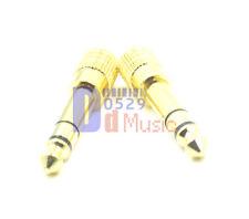 2x adapter metal plug linker connector for koss portapro pro dj100 200 headset