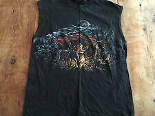 vintage Indians Native Americans at campfire fire horses t-shirt Sleeveless