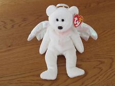 """NEW TY Beanie Baby - """"Halo"""" The Bear - 1998 - Retired With Error"""