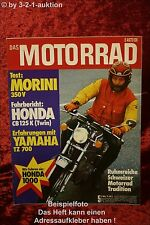 Das Motorrad 5/75 Morini 350 Honda GW & 125 Yamaha KTM