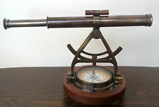 Antique Thedolite alidade telescope compass ancient survey instrument royal gift