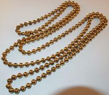 VINTAGE GOLD FILLED BEADS LONG FLAPPER LENGTH STRAND BEADED NECKLACE BOX CLASP