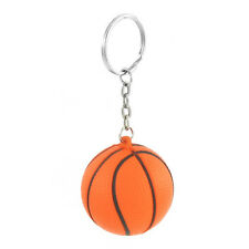 Orange Black Basketball Shape Sport StreB3 Ball Link Chain Key Ring Gift B3