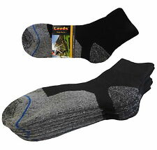 4 Pk ANKLE PREMIUM QUALITY HEAVY THICK CUSHION SOCKS COTTON BLACK GRAY SIZE 9-11