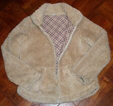 Uniqlo Girls' Fluffly Jacket with Contrast Fleecy Lining Age 11