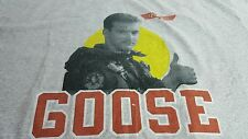 Men's Vintage Style 80s Top Gun Movie Goose Gray Short Sleeve TShirt XL Cotton