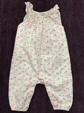 Worn Once BABY GAP Infant Girl One Piece Outfit Romper Neon Floral 3 6 mo