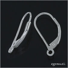 10 Sterling Silver Leverback Lever Back Earring Ear Wires ap. 8x16mm #51499
