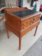 """Antique handmade Willimantic spool cotton Oak-Top desk lift -Chest-34""""x31""""x23"""""""