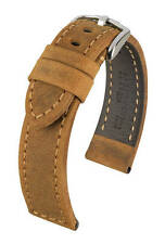 Hirsch Terra 24 mm gold brown watch strap