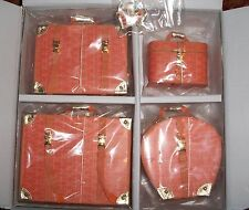 "NRFB SYBARITE SUPERDOLL 16"" doll  4 piece Luggage Set ATHN  orange/peach shade"