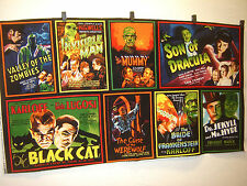 Fabric Kaufman Monster Movies Posters PANEL REtro  HORROR films Invisible man