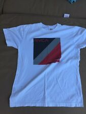 Kids Large RVCA White Graphic T Shirt