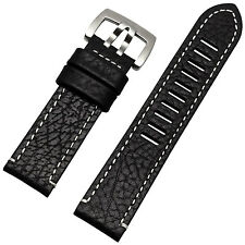 New 23mm Black genuine leather Fit Luminox watch band heavy strap Replacement