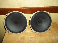 """2-Vintage Zenith Stereo Console 8"""" Heavy Duty Speakers With Whizzer Cones49-1123"""