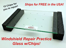 Windshield Repair Practice Glass - RepairDemo With Chips