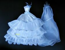 """White Wedding Gown Party Tutu Handmade Costumes for Barbie, Dolls 12"""" Dress up"""
