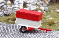 Saller-Modelle 1/87: A8737 Anhänger für Kleinwagen, cremeweiß/rot